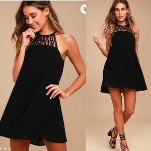 🆕 Lulus Tell Me Black Swing Dress